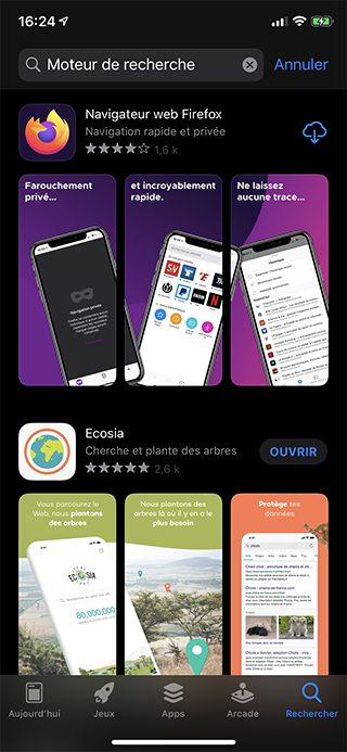 iphone app store moteur recherche Safari : comment changer le moteur de recherche Google par défaut sur iPhone et Mac