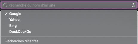 mac safari barre recherche url suggestions Safari : comment changer le moteur de recherche Google par défaut sur iPhone et Mac