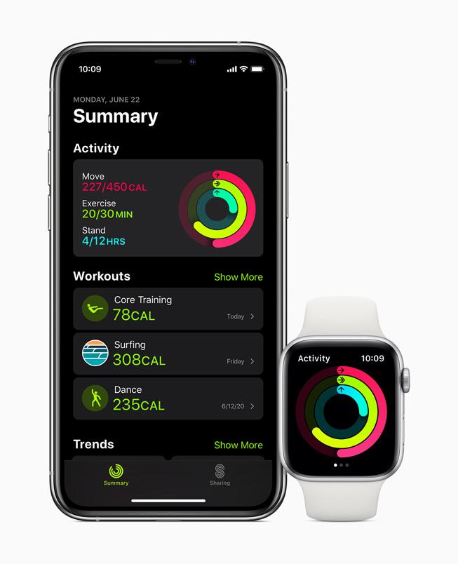 Apple Watch watchOS 7 Fitness watchOS 7 : partage de cadran, suivi du sommeil, nouveaux types d'entraînements, contrôle du lavage des mains...