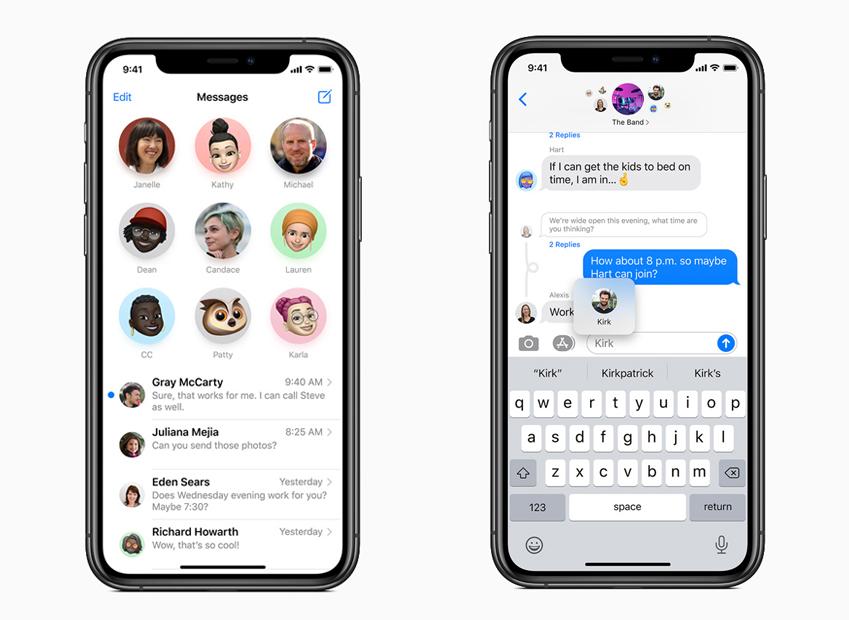 Apple iOS 14 Messages iPhone Apple présente iOS 14 : widgets sur lécran daccueil, App Library, Image dans Image sur lécran daccueil...
