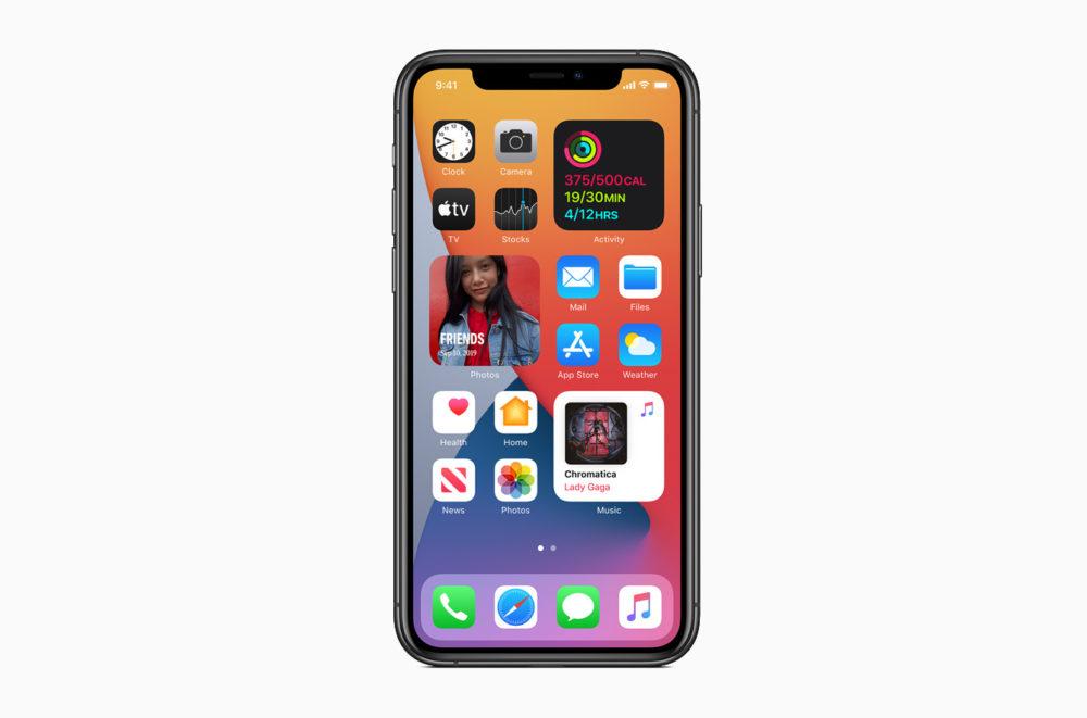 Apple iOS 14 Widgets Redesines Apple présente iOS 14 : widgets sur lécran daccueil, App Library, Image dans Image sur lécran daccueil...