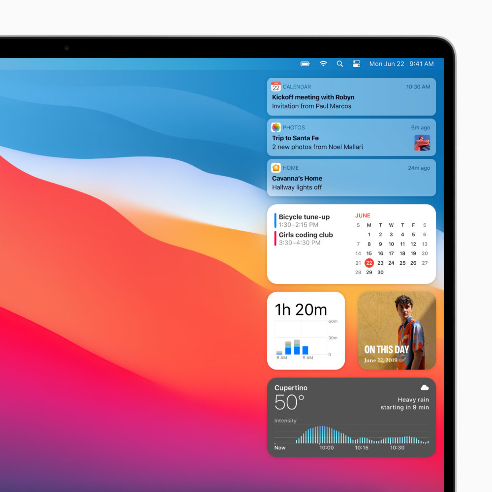 Apple macOS Big Sur Centre Notification Voici macOS Big Sur : nouveau design élégant, améliorations dans Plans, Messages et Safari
