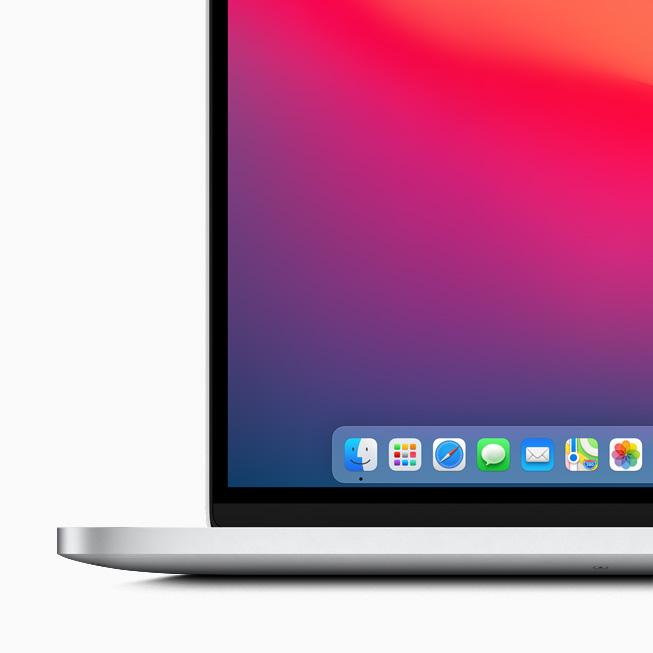 Apple macOS Big Sur Dock Voici macOS Big Sur : nouveau design élégant, améliorations dans Plans, Messages et Safari
