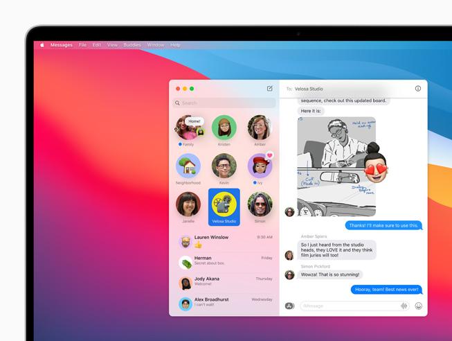 Apple macOS Big Sur Epingler Messages Voici macOS Big Sur : nouveau design élégant, améliorations dans Plans, Messages et Safari