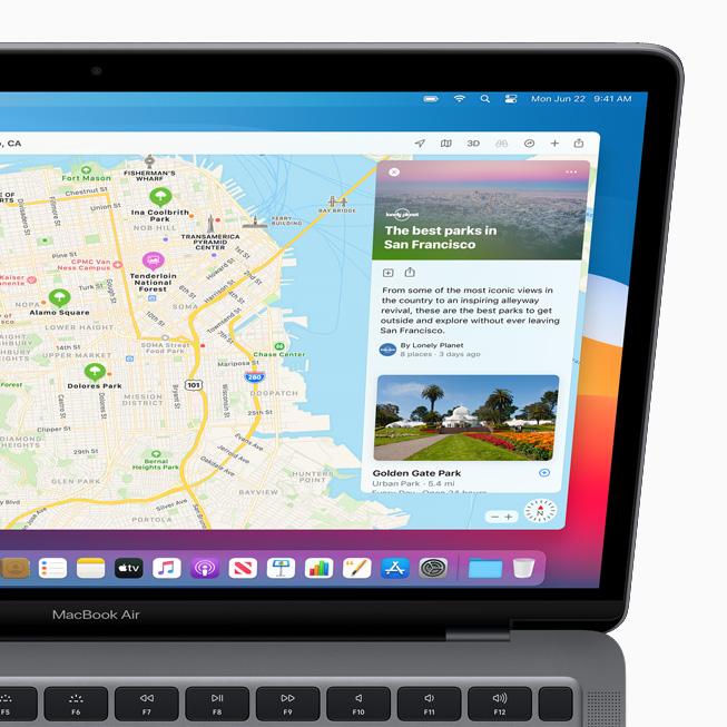 Apple macOS Big Sur Plans Voici macOS Big Sur : nouveau design élégant, améliorations dans Plans, Messages et Safari
