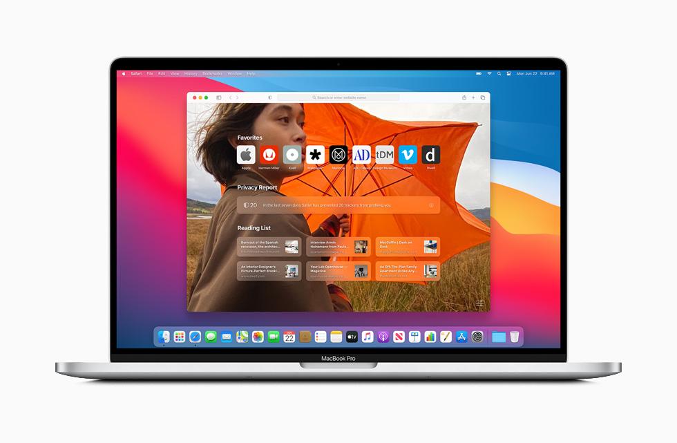 Apple macOS Big Sur Safari Page Demarrage Personnalisee Avant la sortie de macOS Big Sur en version finale, Safari 14 arrive sur Mac