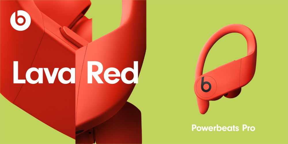PowerBeats Pro Nouveaux Coloris Lava Red Powerbeats Pro : les 4 nouvelles couleurs sont officialisés et seront disponibles le 9 juin