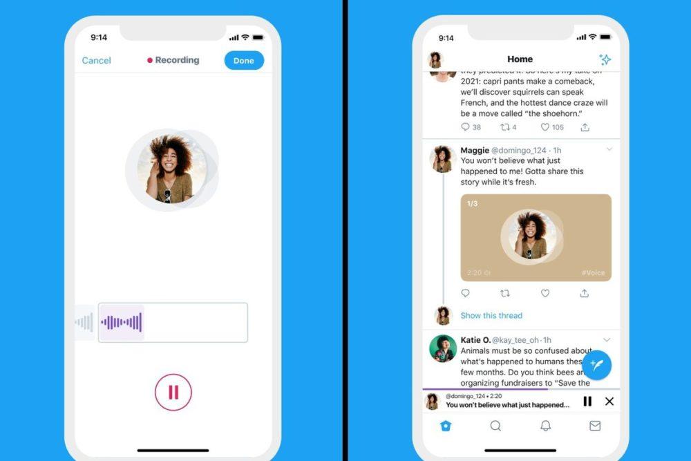 Twitter Tweet Audio Twitter sur iOS : la possibilité de poster des tweets audio en cours de déploiement