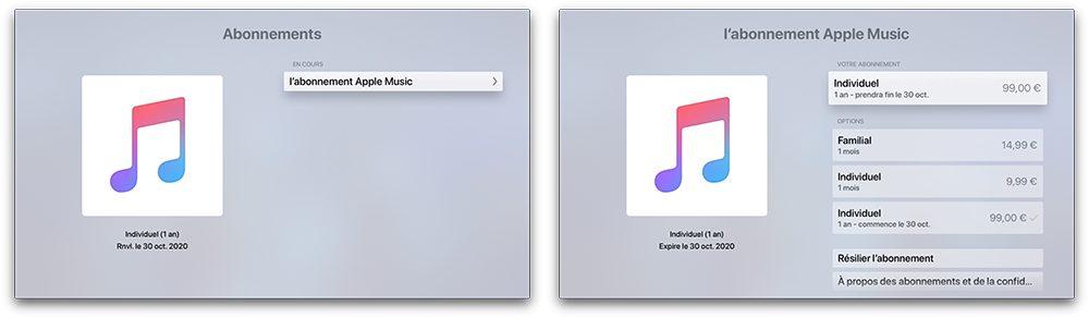 apple tv abonnement Comment prendre ou résilier un abonnement comme Apple Music ou en achats intégrés