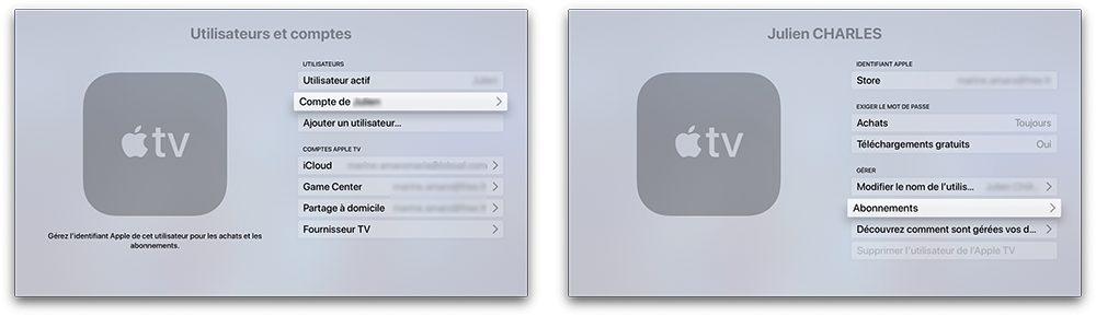 apple tv compte abonnement Comment prendre ou résilier un abonnement comme Apple Music ou en achats intégrés
