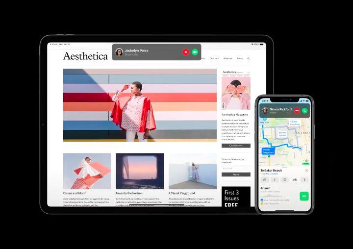 iOS 14 Appels Apple présente iOS 14 : widgets sur lécran daccueil, App Library, Image dans Image sur lécran daccueil...