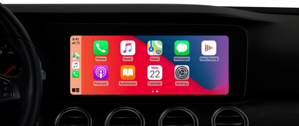 iOS 14 CarPlay Apple présente iOS 14 : widgets sur lécran daccueil, App Library, Image dans Image sur lécran daccueil...