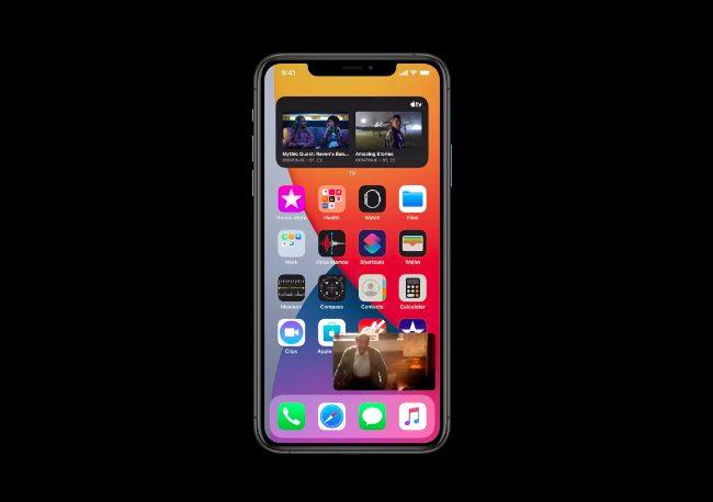 iOS 14 Image dans Image Apple présente iOS 14 : widgets sur lécran daccueil, App Library, Image dans Image sur lécran daccueil...