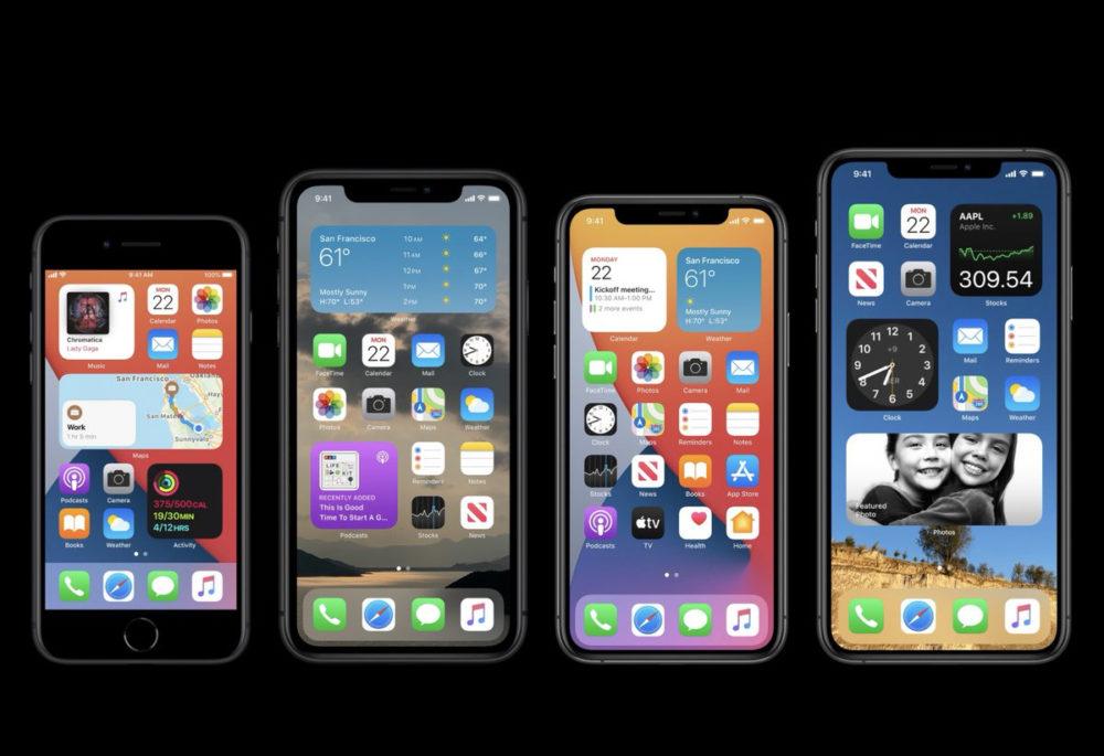 iOS 14 iPhone SE 2 iPhone 11 Apple présente iOS 14 : widgets sur lécran daccueil, App Library, Image dans Image sur lécran daccueil...