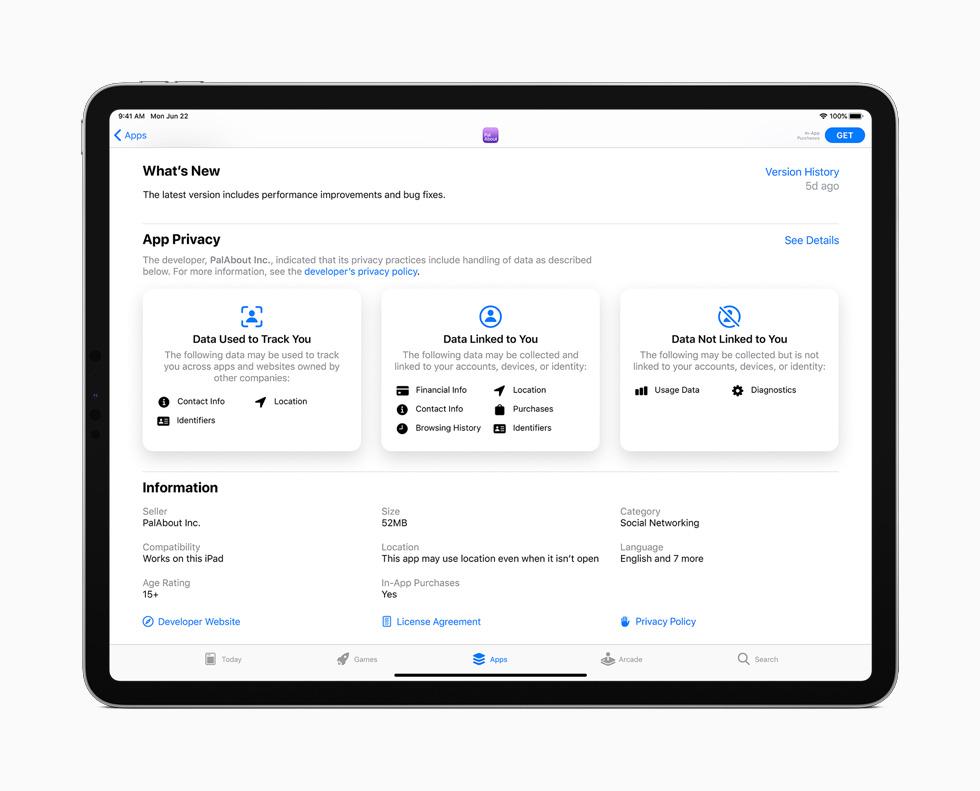 iPadOS 14 App Store Confidentialité iPadOS 14 est arrivé : sidecar, Scribble, réalité augmentée plus réaliste, Siri et Apple Pencil optimisés...