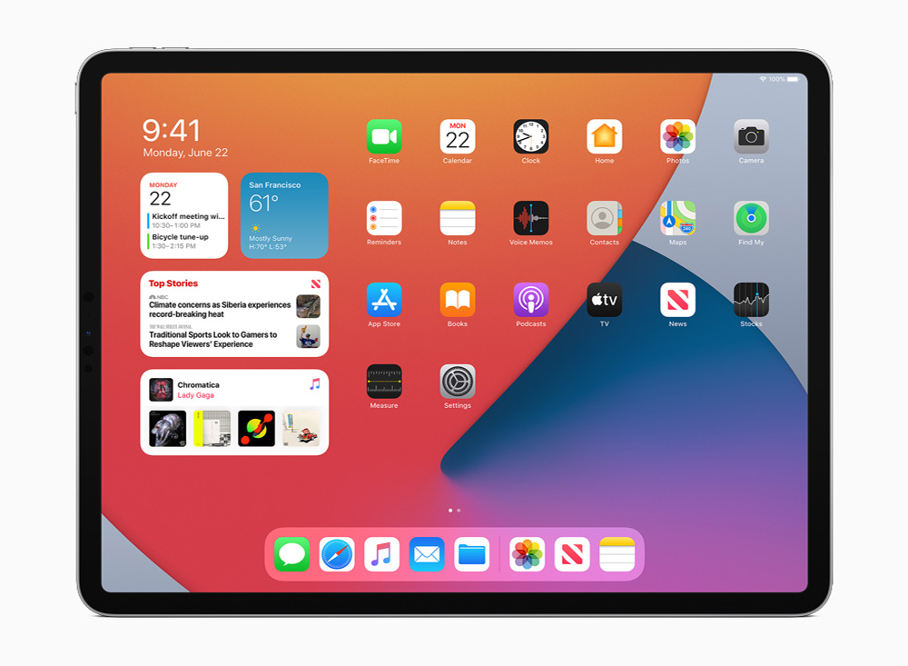 iPadOS 14 Widgets iPadOS 14 est arrivé : sidecar, Scribble, réalité augmentée plus réaliste, Siri et Apple Pencil optimisés...
