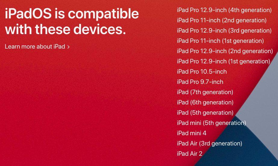 iPadOS 14 iPad Compatibles Voici les iPhone, iPod touch (et iPad) qui peuvent utiliser iOS 14 (et iPadOS 14)