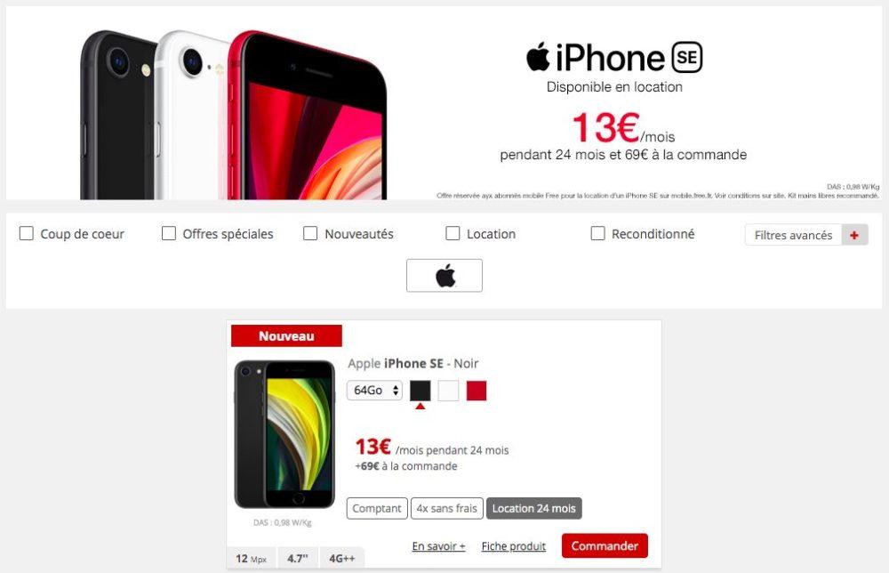 iPhone SE 2020 Location Free Mobile LiPhone SE 2020 est disponible en location chez lopérateur Free Mobile