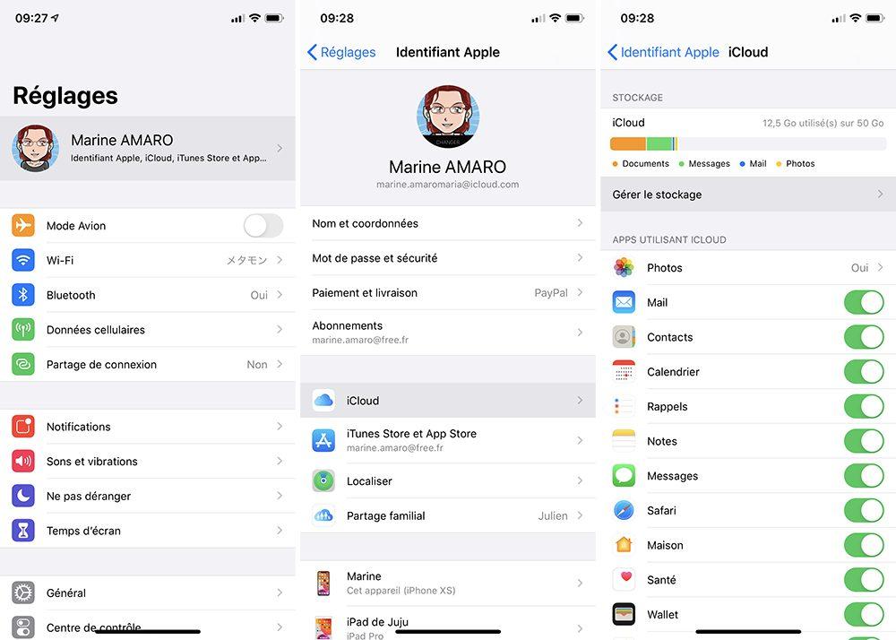 iphone stockage icloud Comment prendre ou résilier un abonnement comme Apple Music ou en achats intégrés