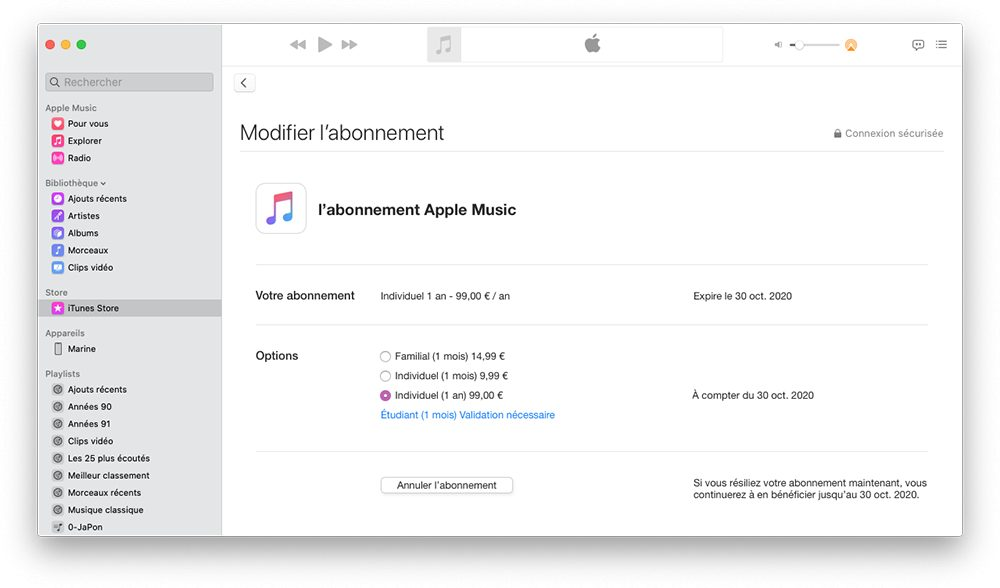 mac musique abonnement Comment prendre ou résilier un abonnement comme Apple Music ou en achats intégrés