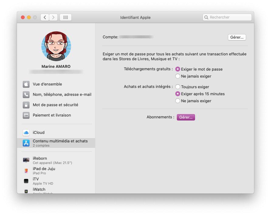 mac pref app store Comment prendre ou résilier un abonnement comme Apple Music ou en achats intégrés