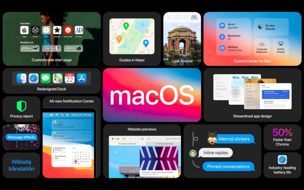 macOS Big Sur Grandes Nouveautes La bêta 6 développeurs de macOS Big Sur est disponible