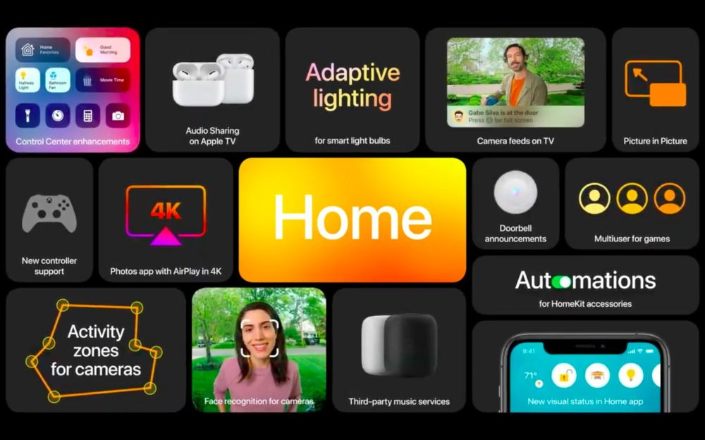 tvOS 14 Apple annonce tvOS 14 : app Home, partage audio, prise en charge de plusieurs utilisateurs pour Apple Arcade...