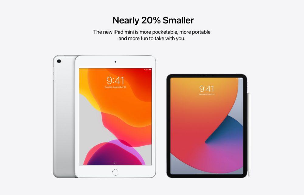 Un concept imagine un iPad mini avec un design de type iPad Pro et Face ID