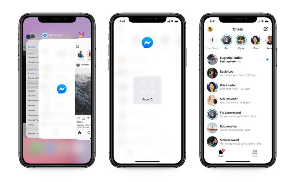 Facebook Messenger iPhone Face ID Touch ID Messenger : Facebook ajoute le (dé)verrouillage par Touch ID et Face ID