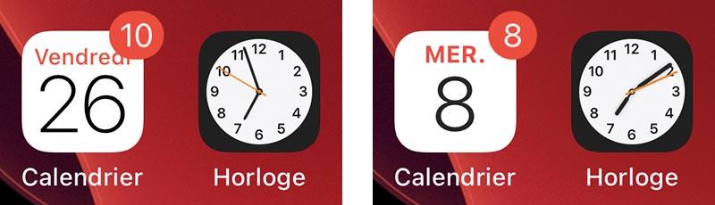 iOS 14 Beta 2 Icones Calendrier et Horloge Quoi de neuf dans iOS 14 et iPadOS bêta 2 ? Voici la liste des nouveautés dénichées