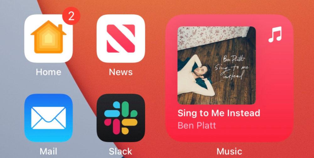 iOS 14 Beta 3 Widget App Musique Arriere Plan Quoi de neuf dans iOS 14 bêta 3 ? Nouvelle icône pour lapp Musique, disparition de 3D Touch et plus