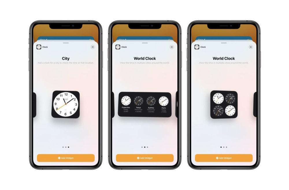 iOS 14 Beta 3 Widget Horloge Quoi de neuf dans iOS 14 bêta 3 ? Nouvelle icône pour lapp Musique, disparition de 3D Touch et plus