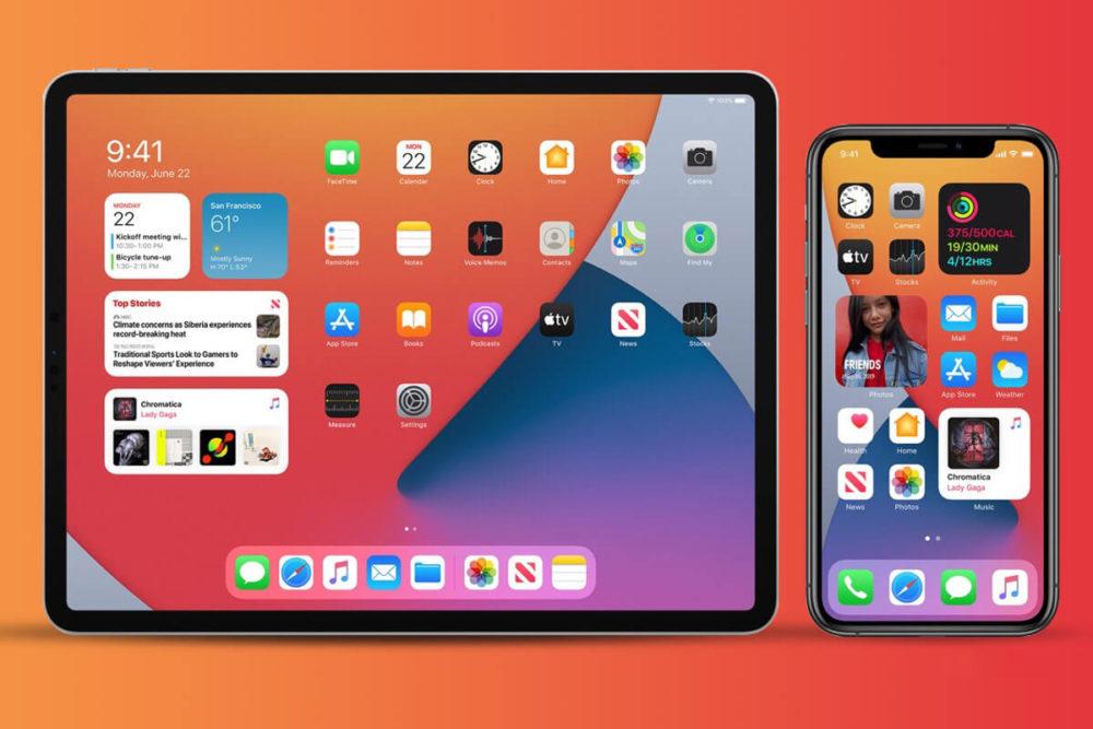 iOS 14 iPadOS 14 iPad Pro iPhone 11 Pro Apple annonce quiOS 14 est installé sur 72% des iPhone et iPadOS, sur 61% des iPad