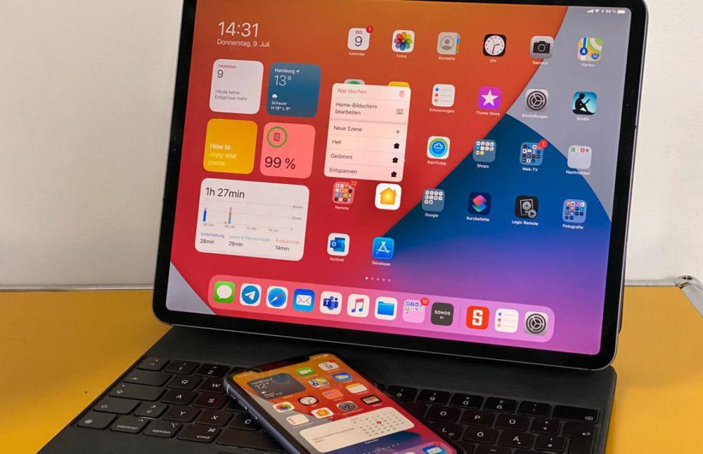 iOS 14 iPadOS 14 iPad Pro iOS 14 et iPadOS 14 : la bêta 4 publique est disponible au téléchargement