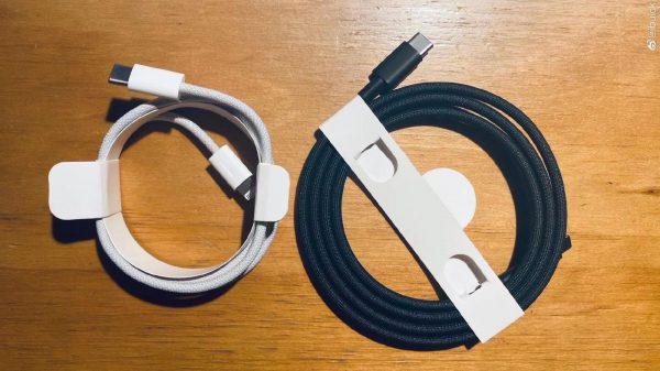iPhone 12 Cable Lightning Tresse 1 Le câble Lightning tressé qui devrait être livré avec liPhone 12 refait son apparition
