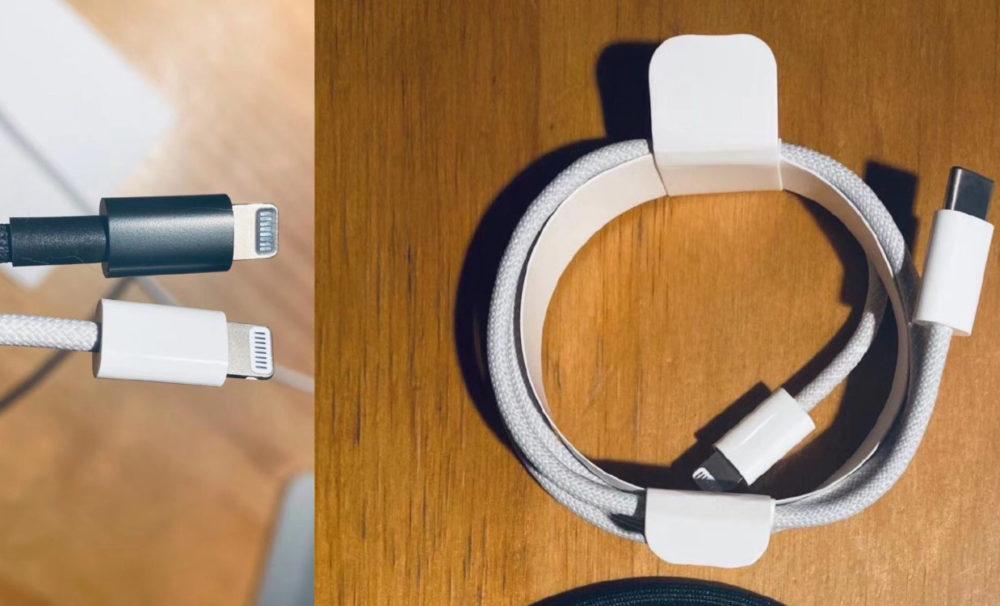 iPhone 12 Cable Lightning Tresse Le câble Lightning tressé qui devrait être livré avec liPhone 12 refait son apparition