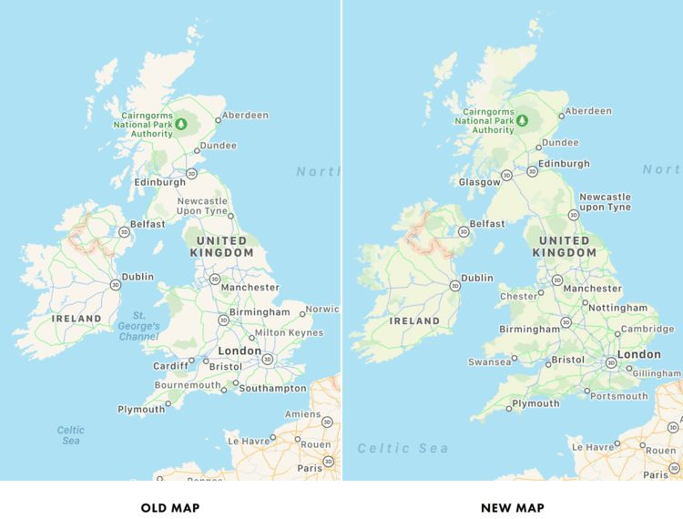 Apple Plans New Map Les cartes améliorées dans Apple Plans arrivent en Europe