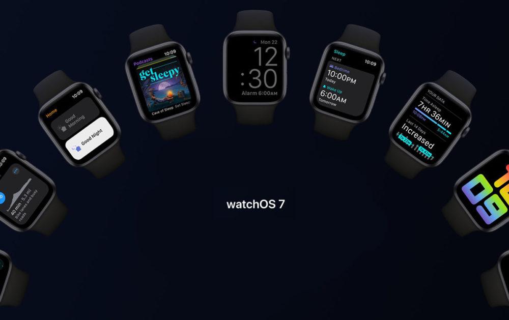 Apple Watch Series 5 watchOS 7 watchOS 7 bêta publique : retourner sur une version stable nest pas possible