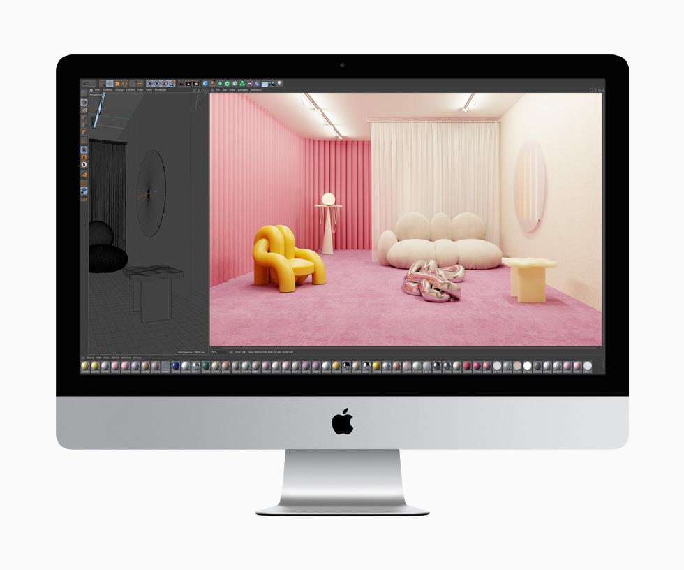 Apple iMac Cinema 4d LiMac 27 pouces est mis à jour : webcam 1080p, processeur Intel 10e gen, T2, SSD...