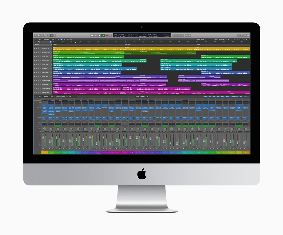 Apple iMac Logic Pro LiMac 27 pouces est mis à jour : webcam 1080p, processeur Intel 10e gen, T2, SSD...