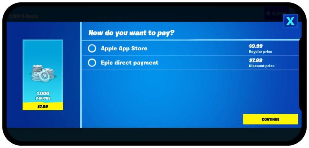 Fortnite Paiement Direct Apple Fortnite est retiré de lApp Store après lajout dune option de paiement direct par Epic Games