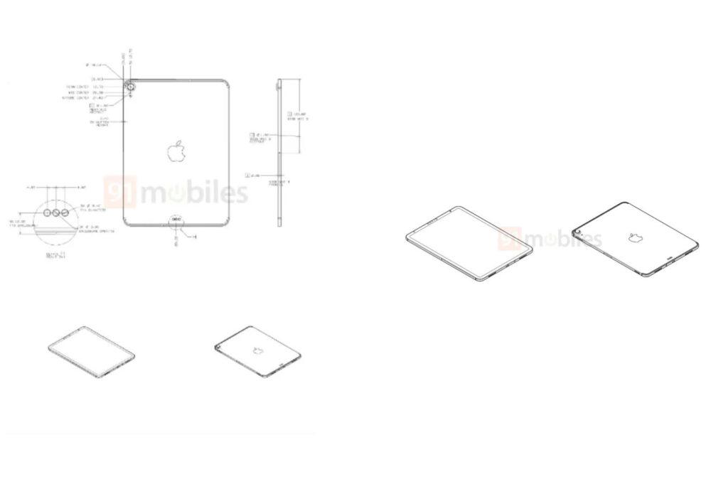 Rumeur Nouvel iPad Schemas Des schémas prétendent montrer le prochain iPad 10,8 pouces avec USB C et Face ID