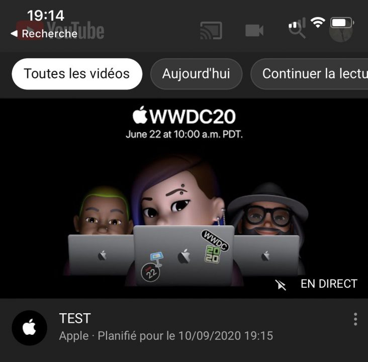 WWDC 2020 Erreur Apple 2 Date de présentation des iPhone 12 ? Apple a planifié et supprimé une vidéo en direct sur YouTube