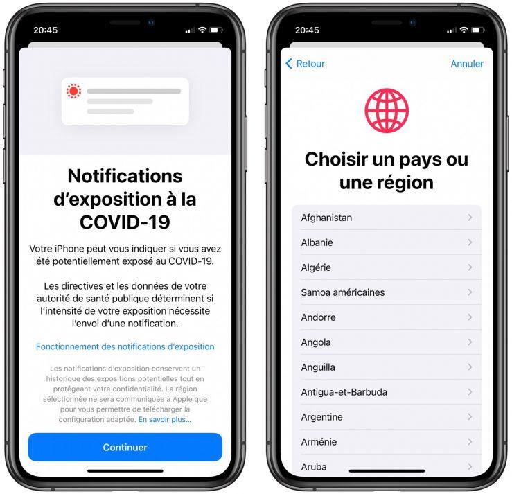 iOS 14 Beta 5 Notifications Exposition Covid 19 iPhone iOS 14 et iPadOS 14 bêta 5 : la liste des nouveautés