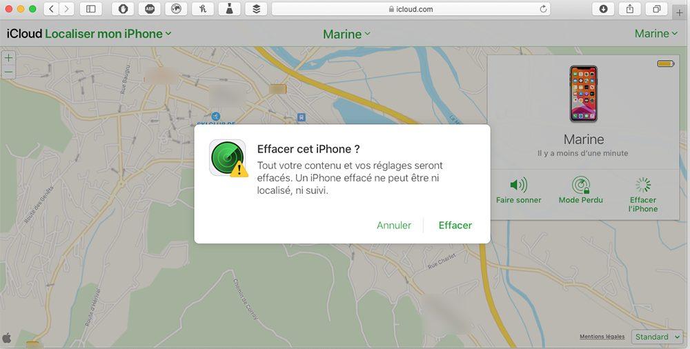 icloud com effacer iphone Comment débloquer un iPhone désactivé avec et sans iTunes ou le Finder