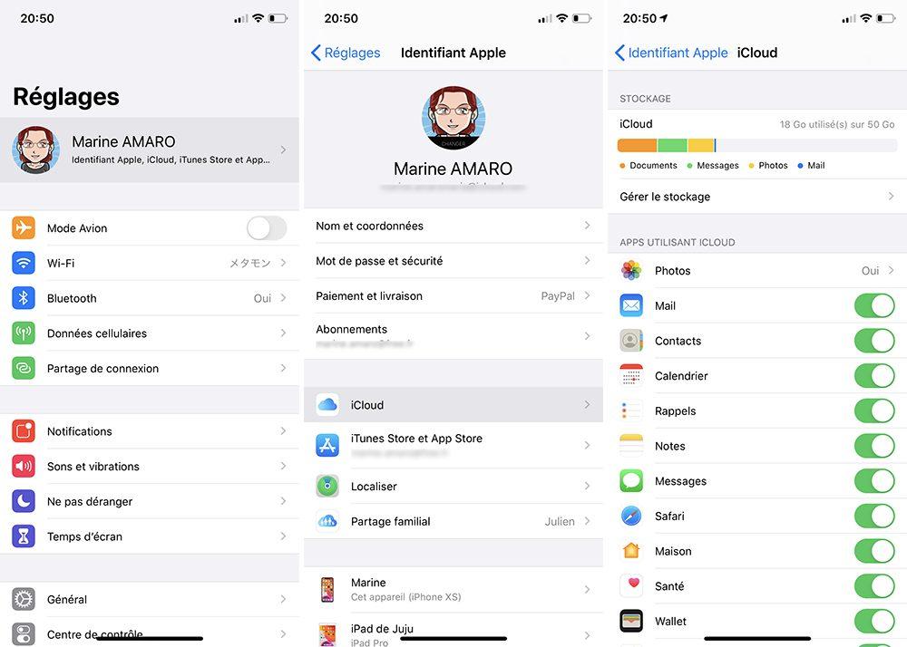 iphone reglages icloud Comment débloquer un iPhone désactivé avec et sans iTunes ou le Finder