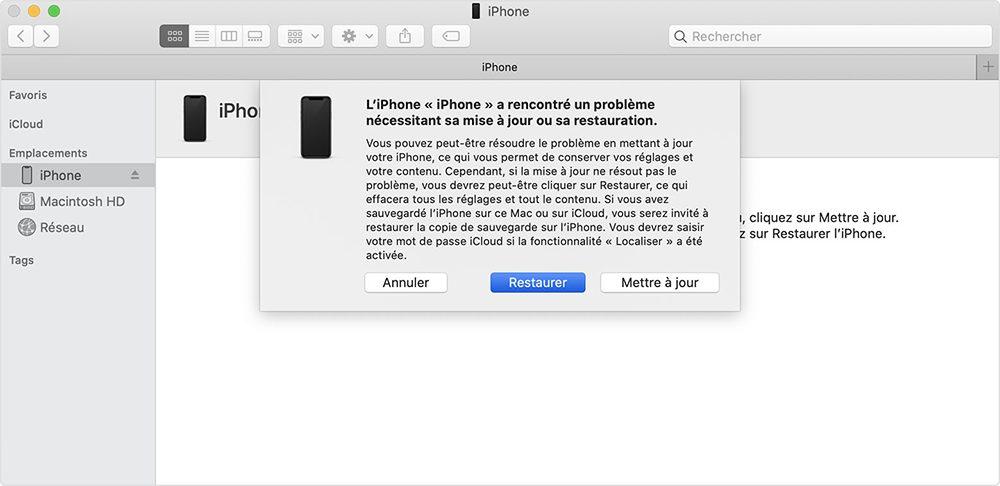 mac finder itunes restaurer iphone Comment débloquer un iPhone désactivé avec et sans iTunes ou le Finder