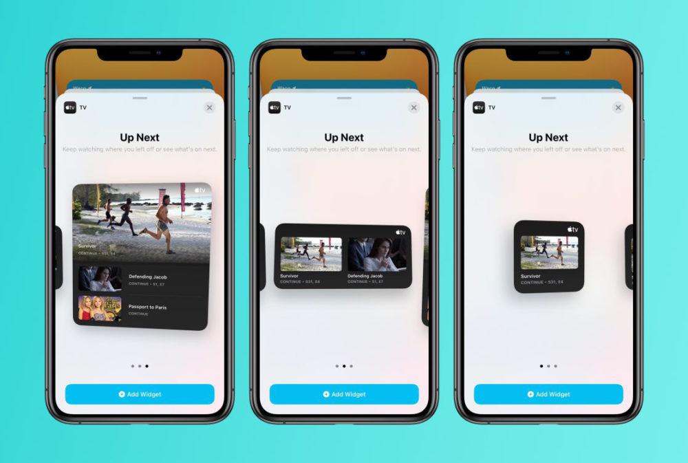 tv app widgets iOS 14 et iPadOS 14 bêta 4 : voici la liste des nouveautés retrouvées