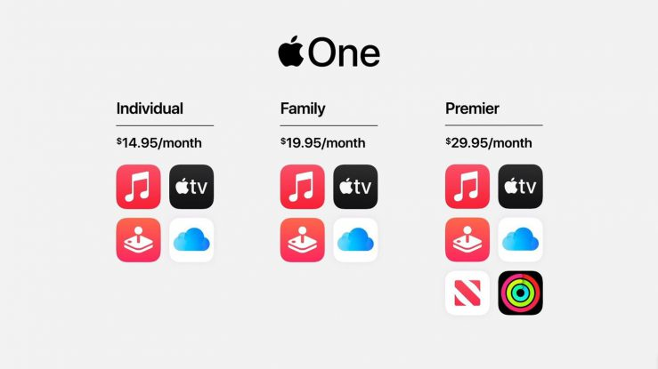 Apple One Services Groupes Apple One, loffre dabonnement regroupée dApple, sera disponible aujourdhui