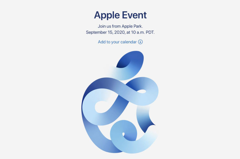 Apple annonce officiellement une keynote virtuelle (pour présenter liPhone 12) le 15 septembre